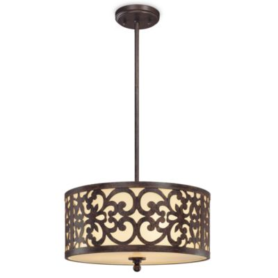 Minka Lavery 3-Light Iron Pendant