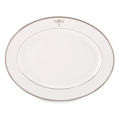kate spade new york June Lane™ Platinum 16-Inch Oval Platter