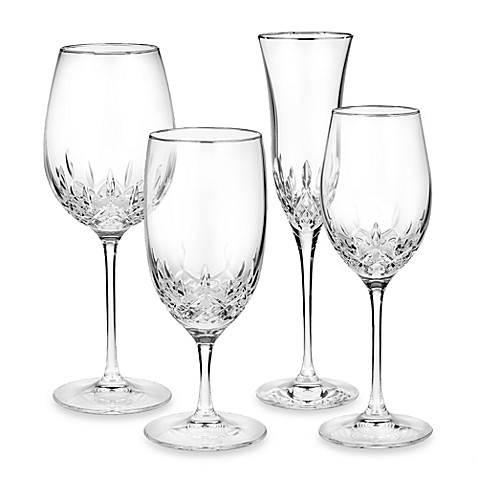 Waterford® Lismore Essence Platinum Crystal Stemware