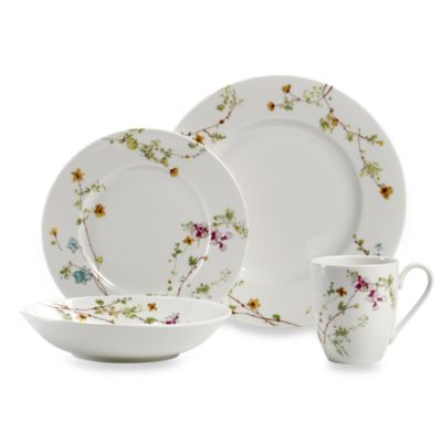 Mikasa® Sketch Floral 4-Piece Place Setting