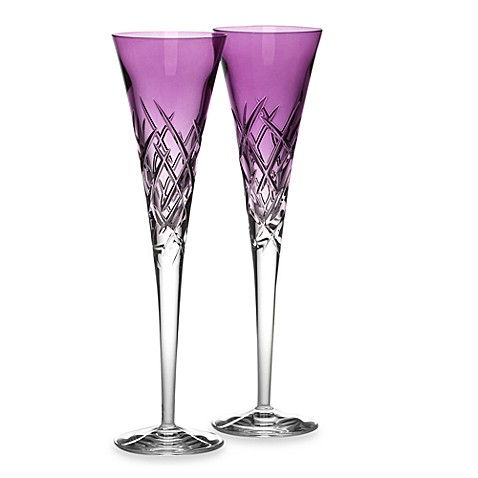 Vera Wang Wedgwood® Duchesse Encore 7 oz. Toasting Flute Pair in Lavender (Set of 2)