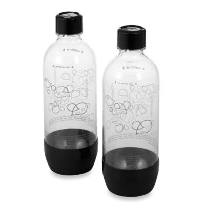 SodaStream 1-Liter Carbonating Bottles in Black (Set of 2)