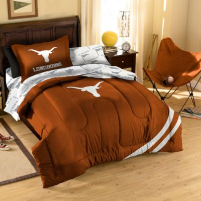 Collegiate University of Texas Complete Full Bed Ensemble