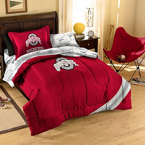 Collegiate Ohio State Complete Bed Ensemble