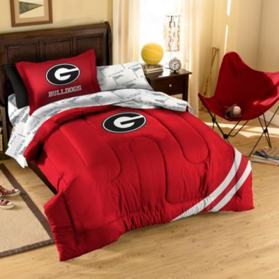 Collegiate University of Georgia Complete Bed Ensemble - Twin