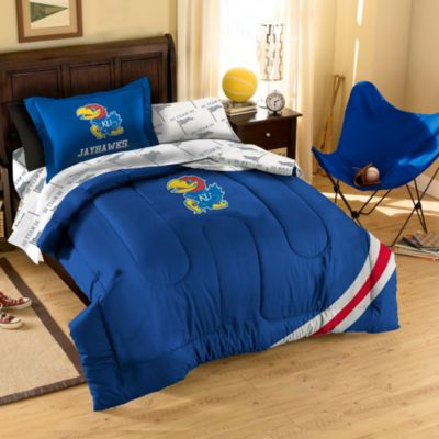Collegiate University of Kansas Full Complete Bed Ensemble
