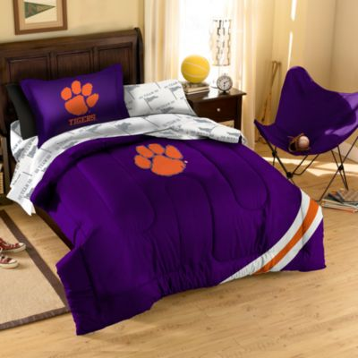 Collegiate Clemson University Complete Full Bed Ensemble