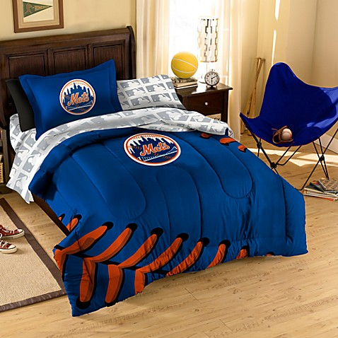 MLB New York Mets Complete Twin Bed Ensemble