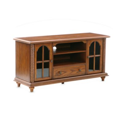 Southern Enterprises Antique Oak TV and Media Stand