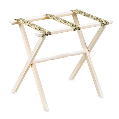 Pickled Oak Luggage Rack