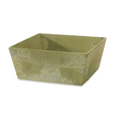 Ella Low Square Planter in Sage