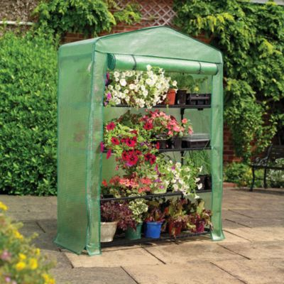 Four-Tier Extra Wide Mini Greenhouse