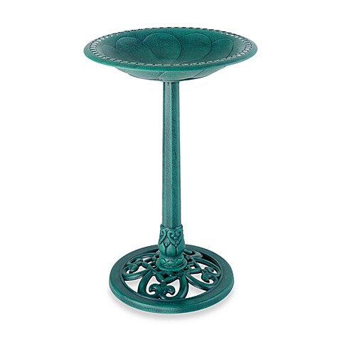 Gardman Pedestal Bird Bath in Verdi Gris