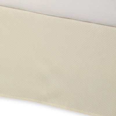 Diamond Matelasse Tailored California King Bed Skirt in Ivory