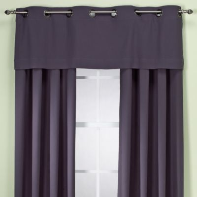Ampersand® Strastosphere Grommet Valance in Grey