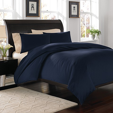 Royal Velvet® Navy 400 Duvet Cover Set