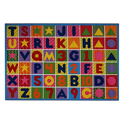 Numbers and Letters 1-Foot 7-Inch x 2-Foot 5-Inch Rug