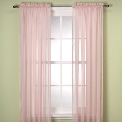 Elegance Sheer 63-Inch Window Curtain Panel in Pink