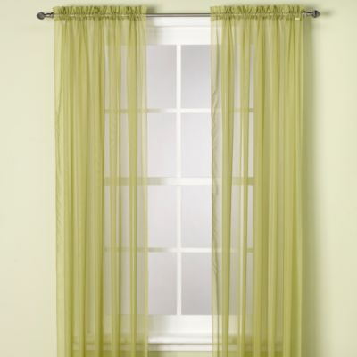 Elegance Sheer Rod Pocket 84-Inch Window Curtain Panel in Smoke Blue