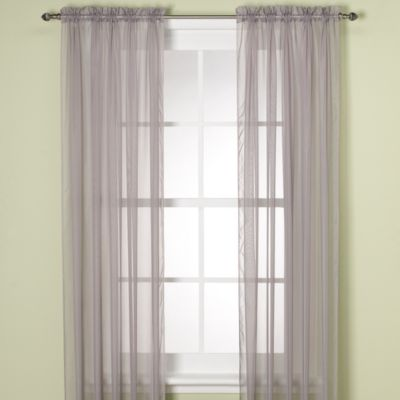 Elegance Sheer 84-Inch Window Curtain Panel in Silver
