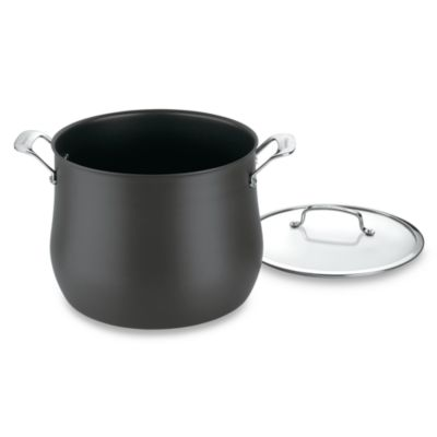 Cuisinart® Contour™ Hard Anodized 12 qt. Covered Stockpot