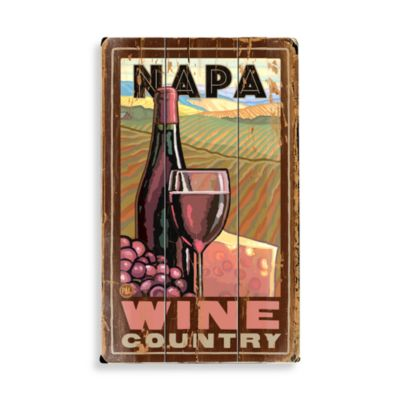 Napa Valley Planked Wood Sign
