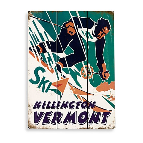 Ski Killington Planked Wood Sign