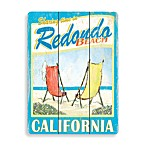 Redondo Beach Planked Wood Sign