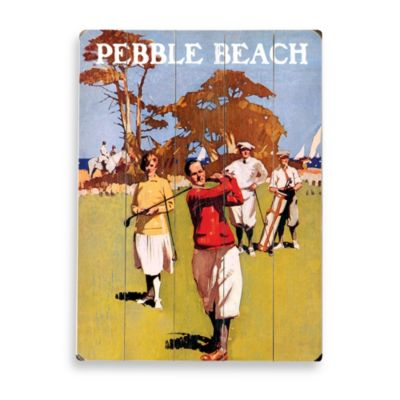 Pebble Beach Planked Wood Sign