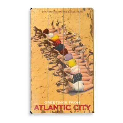 Atlantic City Planked Wood Sign