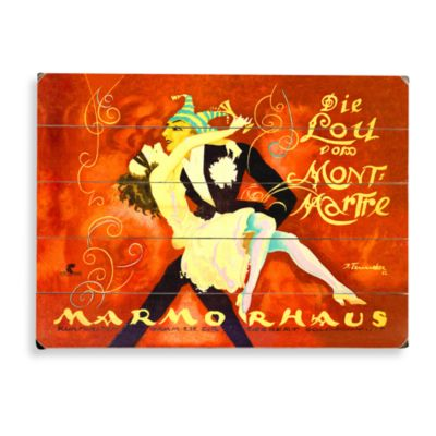 Mont Morte Marmorhaus Planked Wood Sign