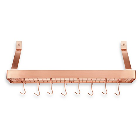 Cuisinart® Rectangular Bookshelf Wall Rack in Polished Copper Finish