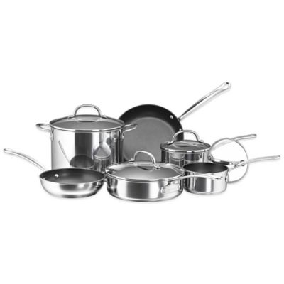 Farberware® Millennium Non-Stick Coated Stainless Steel 10-Piece Cookware Set