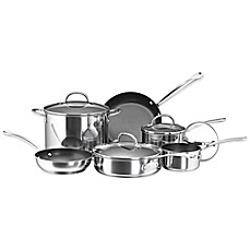 Farberware® Millennium Non-Stick Coated Stainless Steel 10-Piece Cookware Set and Open Stock