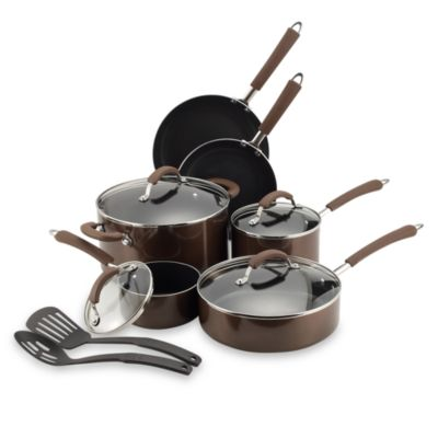 Farberware® Millennium Bronze Non-Stick Coated Porcelain Enameled Aluminum 12-Piece Cookware Set