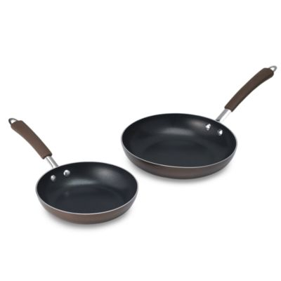 Farberware® Millennium Bronze Non-Stick Coated Porcelain Enameled Open Skillets (Set of 2)