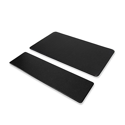 "Imprint™ Nantucket 20"" x 72"" Anti-Fatigue Comfort Mat - Black"