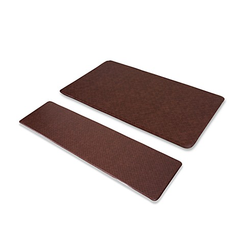 "Imprint™ Nantucket 20"" x 72"" Anti-Fatigue Comfort Mat - Cinnamon"