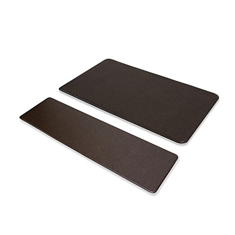 "Imprint™ Nantucket 20"" x 72"" Anti-Fatigue Comfort Mat - Espresso"
