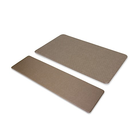 "Imprint™ Nantucket 20"" x 72"" Anti-Fatigue Comfort Mat - Mocha"