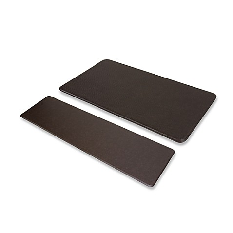 "Imprint™ Cobblestone 20"" x 72"" Anti-Fatigue Comfort Mat - Espresso"