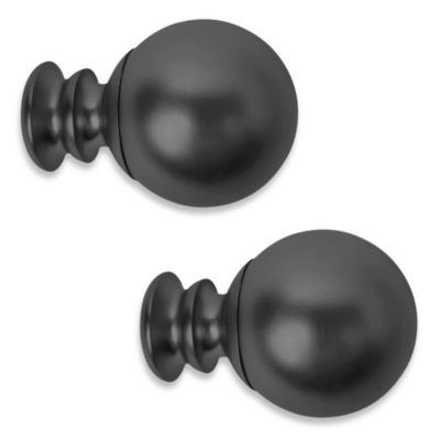 Cambria® Complete Paragon Finial Pair in Satin Black