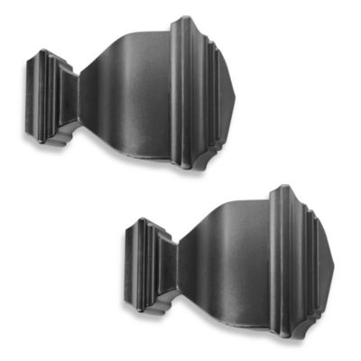 Cambria® Complete Napoleon Finial Pair in Satin Black
