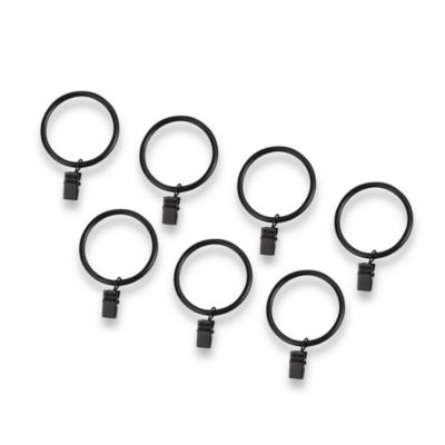 Cambria® Complete Satin Black Clip Rings (Set of 7)