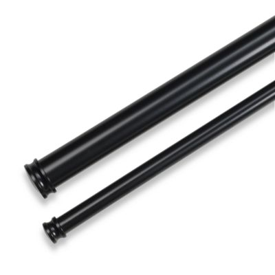 Cambria® Premier Complete® Double Drapery Rod in Satin Black