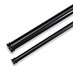 Cambria® Complete Adjustable Double Drapery Rod in Satin Black