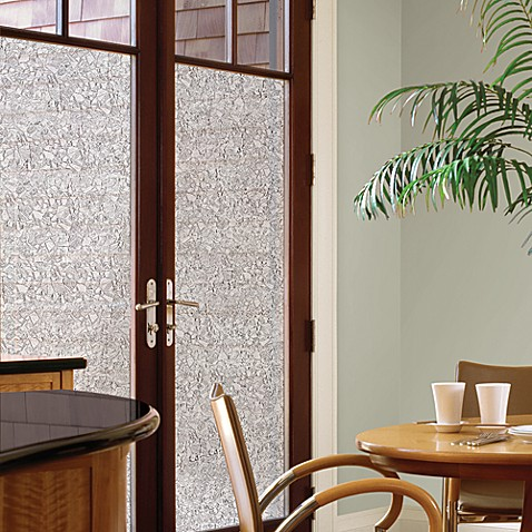 Decorative Privacy Film Door Glass Cling In Mosaic Bed
