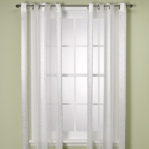 Moscow White Sheer Window Panel - 108-Inch