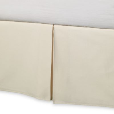 Barbara Barry® Perfect Pique Queen Bed Skirt in Ivory