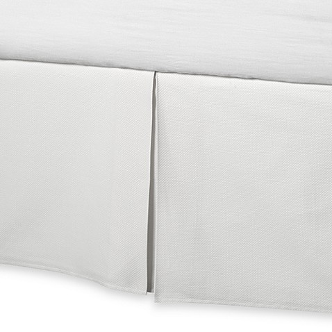 Barbara Barry® Perfect Pique California King Bed Skirt in White